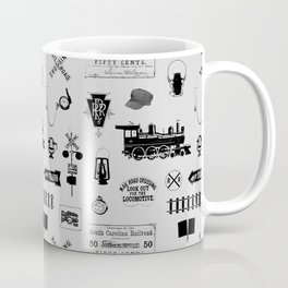 Railroad Symbols // Light Grey Coffee Mug