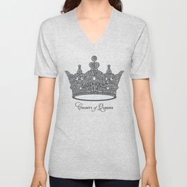 County of Queens | NYC Borough Crown (GREY) Unisex V-Neck