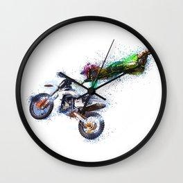 Motorbike Sport Game Cross Wall Clock