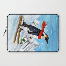 Penguin Alpine Skiing Laptop Sleeve