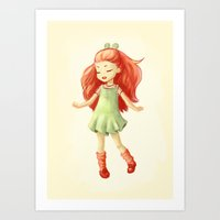 ginger Art Prints featuring Ginger by Freeminds