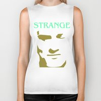 the smiths Biker Tanks featuring Strange Strangeways (The Smiths inspired) by Trendy Youth