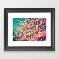 Her Favorite Color was Pink Flowers Framed Art Print