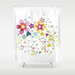 Schmetterlingswiese – Butterfly-Meadow Shower Curtain