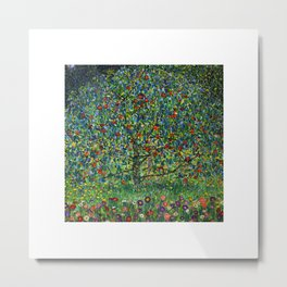 The Apple Tree Gustav Klimt Metal Print