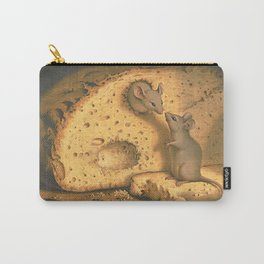 Vintage Cute Mouse Raid Eating Bread  Carry-All Pouch