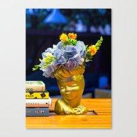 golden girls Canvas Prints featuring 'Golden Girls' Floral Headvase by The Horticult