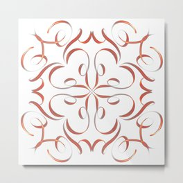 Hand Drawn Modern Mandala Metal Print