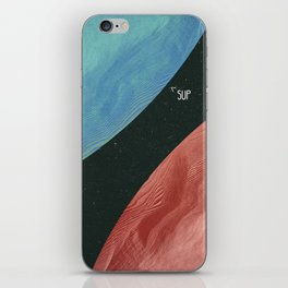 Earth collides with mars iPhone Skin