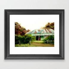 My late Mum's Farm House Framed Art Print