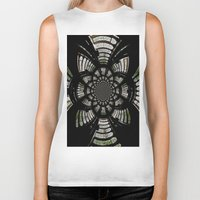 fractal Biker Tanks featuring Fractal by Aaron Carberry