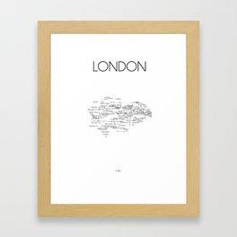 CityStations - London Tube. Minimalist map Framed Art Print