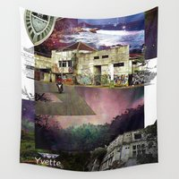 indonesia Wall Tapestries featuring Landscape of Indonesia by Yvette en vogue