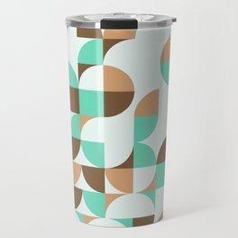 Mint and Chocolate Fresh Pattern Travel Mug