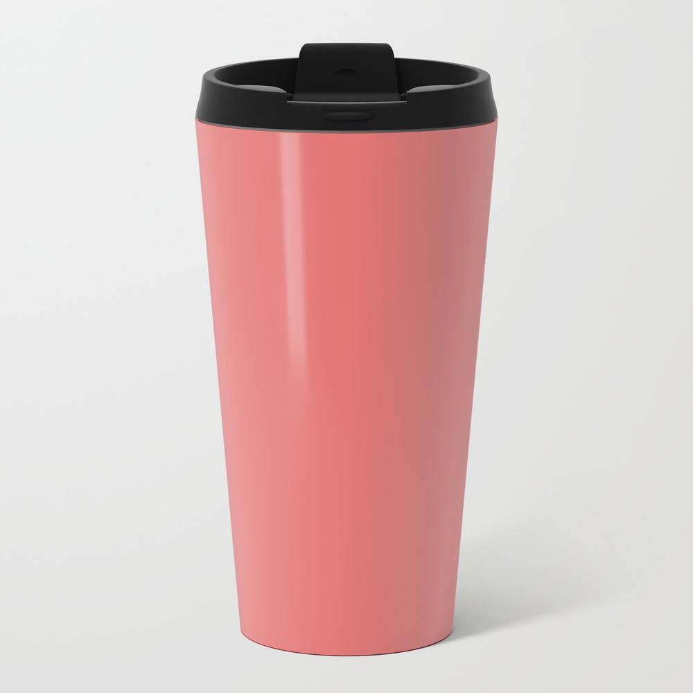 Boca Solid Shades - Dusty Rose Metal Travel Mug by Circa78designs MTM8805927