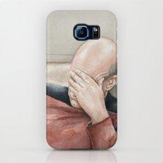 Picard Facepalm Meme Funny Geek Sci-fi Captain Picard TNG Galaxy S7 Slim Case