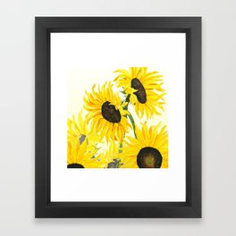 sunflower watercolor 2017 Framed Art Print