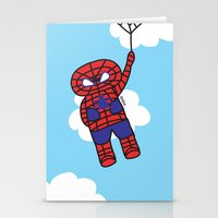 superheros Stationery Cards featuring Superheros by oekie