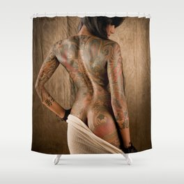 Lepa in Cotton Shower Curtain