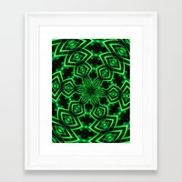 rave Framed Art Prints featuring Rave Explosive by Julie Maxwell