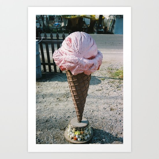 Giant Ice Cream Art Print