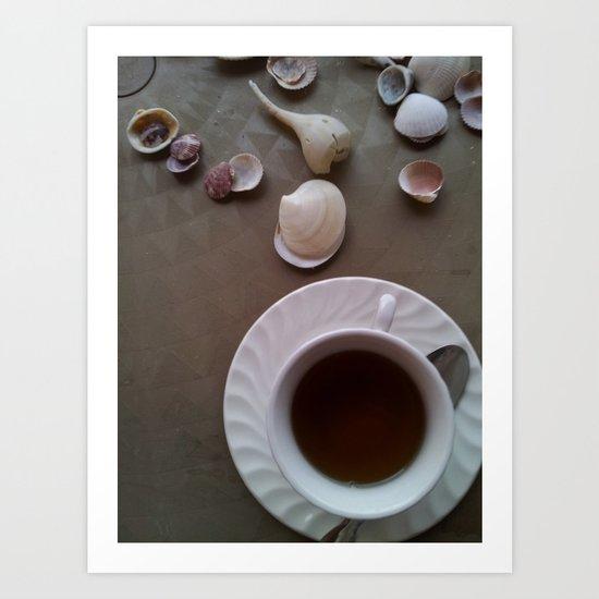 Tea Shells Art Print