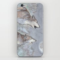 wolves iPhone & iPod Skins featuring Wolves by Jen Hallbrown
