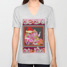 AFTERNOON TEA PARTY  & PASTRY  DESSERTS Unisex V-Neck