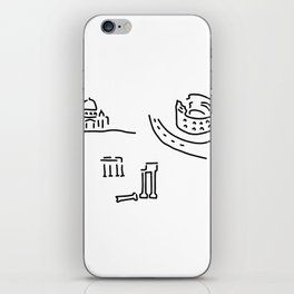 Rome kolloseum Peter's cathedral forum iPhone Skin