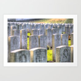 World War One War Graves Etaples Military Cemetery Art Print