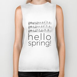 Hello spring! (white) Biker Tank
