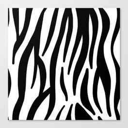 abstract modern safari animal black and white zebra print Canvas Print