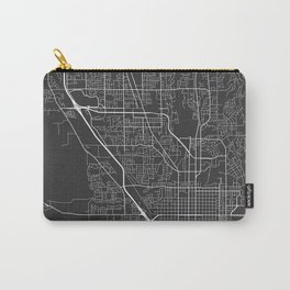 Provo Map, USA - Gray Carry-All Pouch