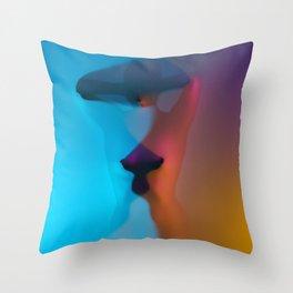 Rainbow Woman Throw Pillow