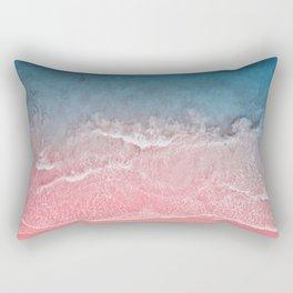 Bahamas pink blue Rectangular Pillow