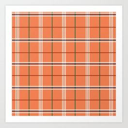Carrot Plaid Art Print