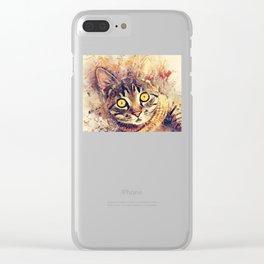 Cat Tigger Clear iPhone Case