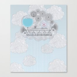 Cross-Section of a Cloud Canvas Print