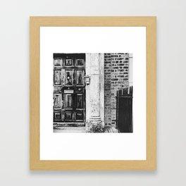 Black & white Irish door Framed Art Print