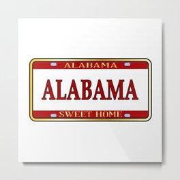 Alabama State Name License Plate Metal Print
