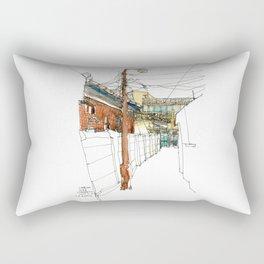 vintage city Rectangular Pillow