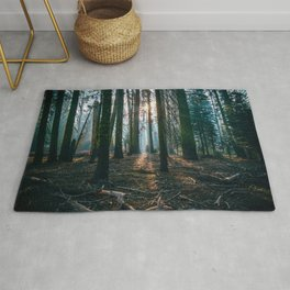 The woods are deep Rug