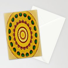 Golden Jewel with Emerald stones  Stationery Cards