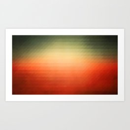 Sunset gradient pixels Art Print