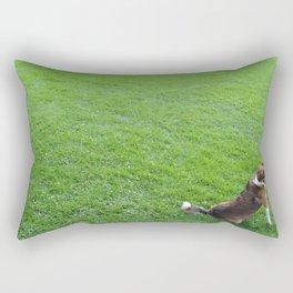 The lonly dog Rectangular Pillow
