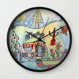 Christmas Camper Wall Clock