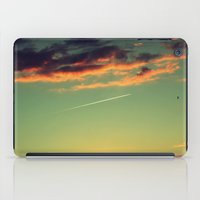 airplanes iPad Cases featuring Sunset and Airplanes by Rafael Baumer