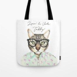 VIDA Tote Bag - Tabby Blues by VIDA