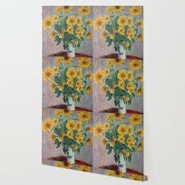 Claude Monet Bouquet Of Sunflowers 1881 Wallpaper