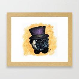 Puggin on the Ritz Framed Art Print